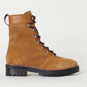 H&M Suede Hiker Boots